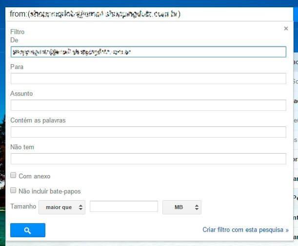 passo 2 - Tutorial: Como filtrar mensagens no Gmail