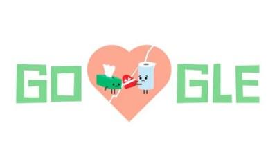 """dia dos narmorados - Nada romântico: Google erra Doodle do Dia dos """"Narmorados"""""""