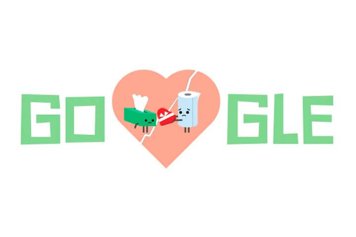 """dia dos narmorados 720x480 - Nada romântico: Google erra Doodle do Dia dos """"Narmorados"""""""