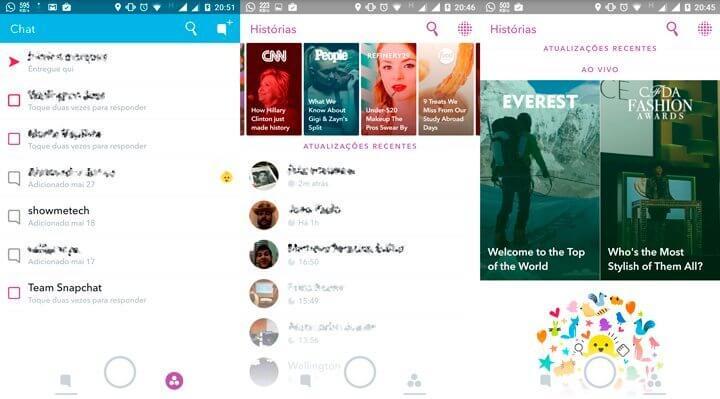 Snapchat para Android ganha atualização