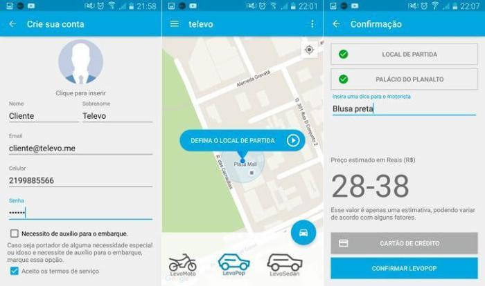 televo app 720x426 - Televo: startup é uma alternativa 100% brasileira ao Uber
