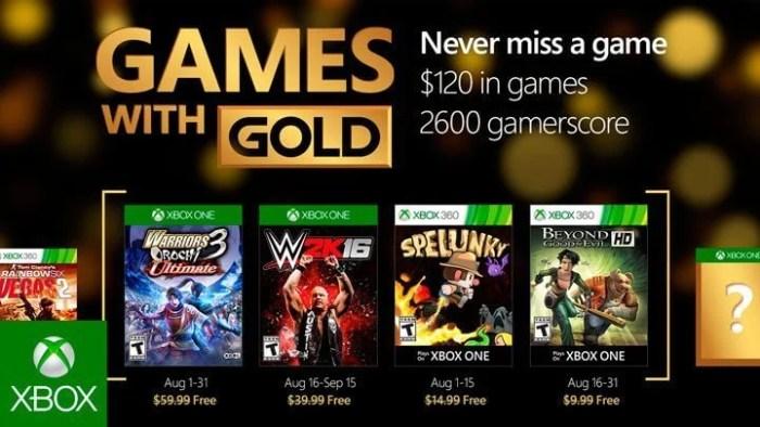 Games With Gold Agosto de 2016