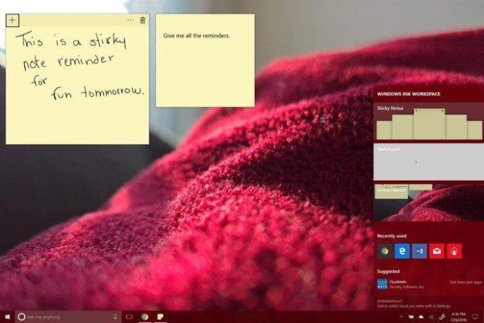 Atualização de aniversário - Windows Ink