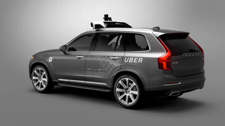 carro autônomo da Uber desenvolvido em parceria com a Volvo