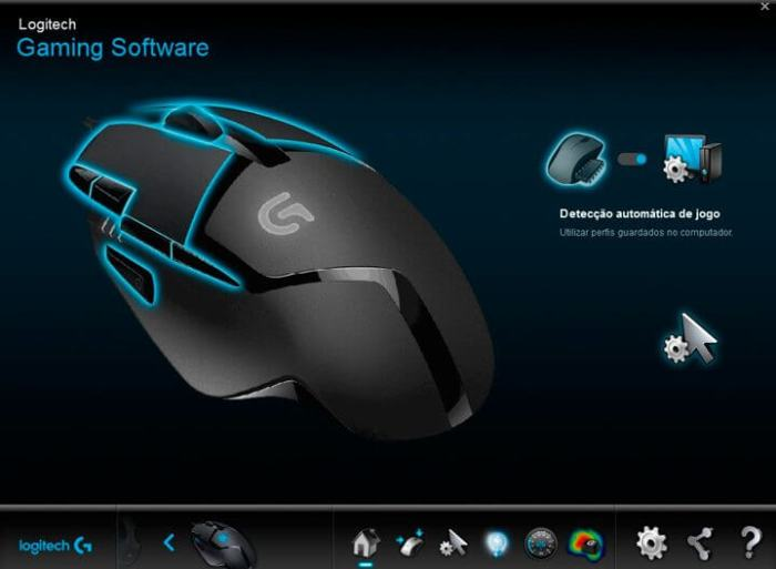 Logitech Gaming Software inicio