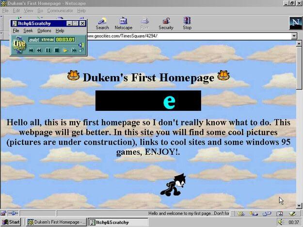 Os primeiros sites não eram tão elaborados