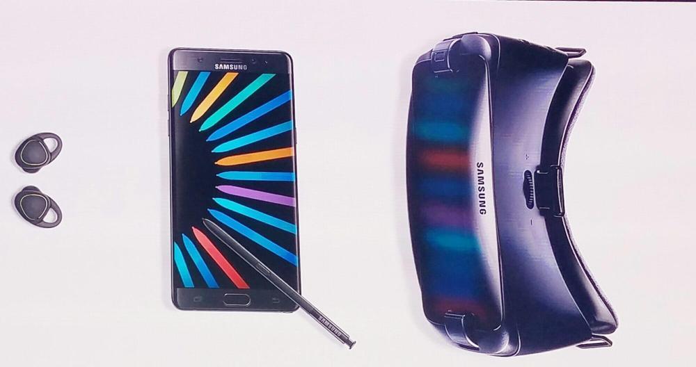 Pacote de Pré-venda: Galaxy Note 7 + novo Novo Gear VR + Fones IconX