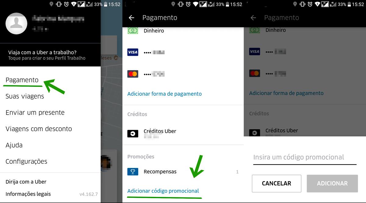 a7933ea0d Como ganhar código promocional Uber para viajar de graça