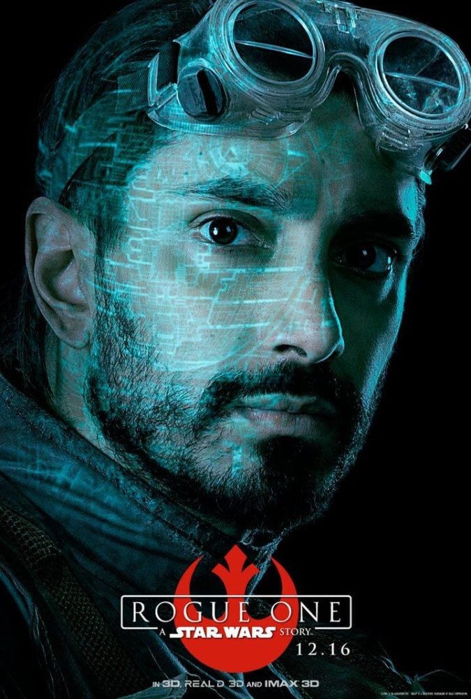 Bodhi Rook (Riz Ahmed) - Antigo piloto do Império que encontrou a luz.