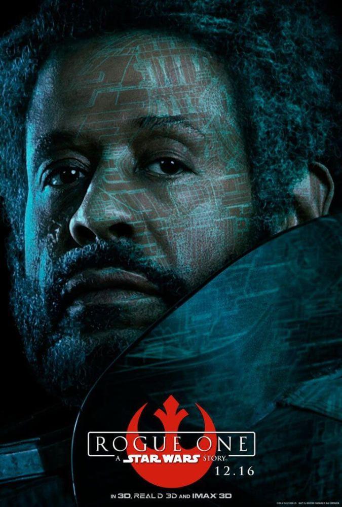 Saw Gerrera (Forest Whitaker) - Decidido a vencer a luta contra o Império.
