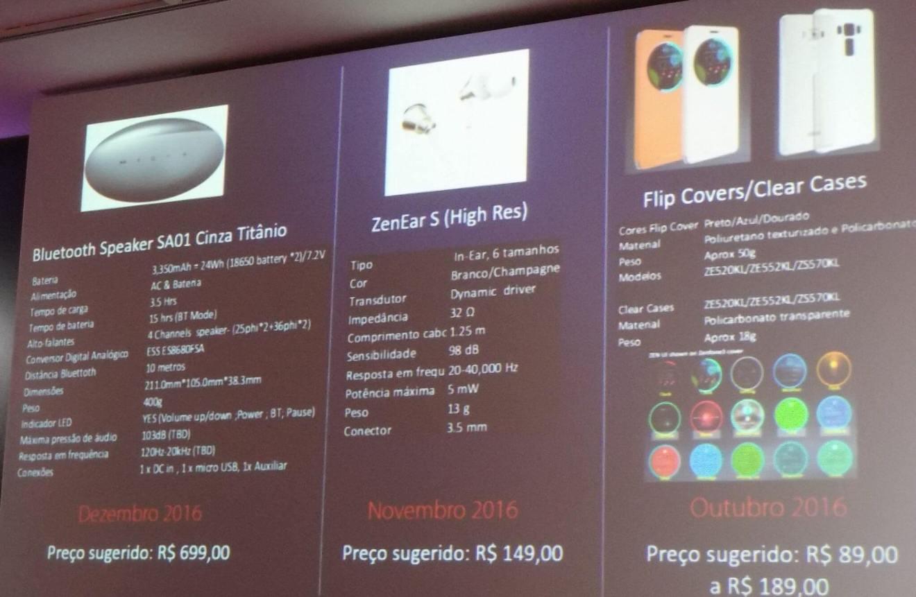 acessorios asus flip cover zenear s bluetooth speaker sa01 - ASUS anuncia família Zenfone 3, Zenbook 3 e dois modelos do Zenwatch no Brasil (atualizado)
