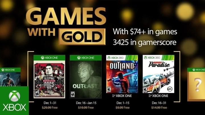 Games with Gold de dezembro 2016