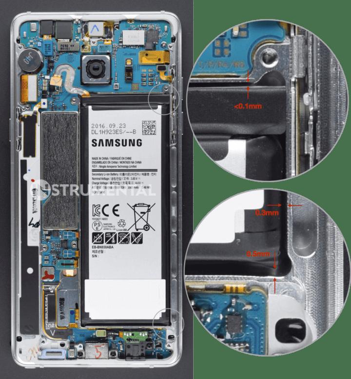 Bateria do Samsung Galaxy Note7 720x776 - Descoberto o verdadeiro culpado das explosões do Galaxy Note7