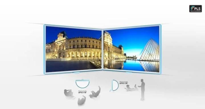 Ângulo de visão do Monitor LED Curvo da Samsung