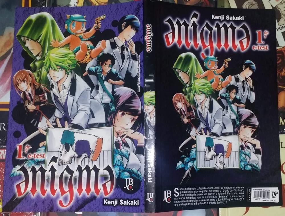 capa enigma e test - Dica de Mangá: Enigma #1 - Resenha