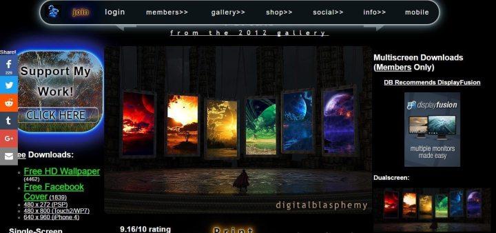 Digital Blasphemy 1 720x338 - 10 sites e aplicativos para quem precisa de Papéis de Parede no computador
