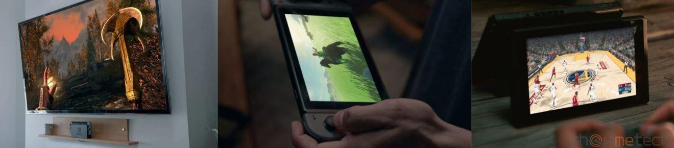Nintendo SWITCH TV mode handheld mode tabletop mode 2