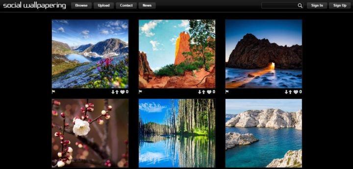 Social Wallpapering 720x345 - 10 sites e aplicativos para quem precisa de Papéis de Parede no computador