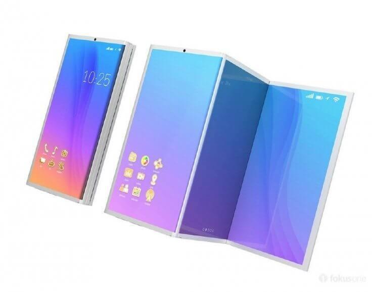 concept render galaxy x - Novo conceito do Galaxy X conta com 3 telas dobráveis