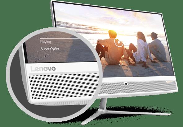 lenovo ideacentre aio 510 22 speakers - Lenovo anuncia novo all-in-one no Brasil com tela Full HD sem bordas