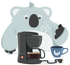 Como não amar um Coala que toma café?