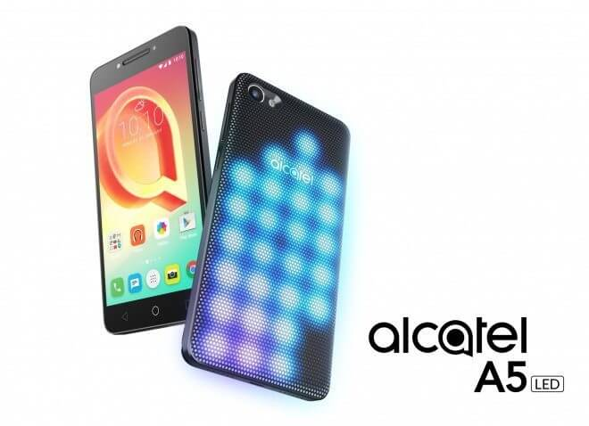 """MWC 2017: Alcatel A5 LED é anunciado com traseira """"modular"""" modular e repleta de luzes"""