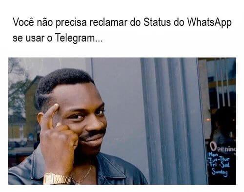 meme status - Após polêmica, status em texto do WhatsApp vai voltar