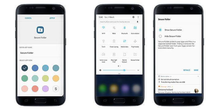 """secure folder s7 and s7 edge main 2 - Samsung lança """"pasta segura"""" para Galaxy S7 e S7 Edge; veja como usar!"""