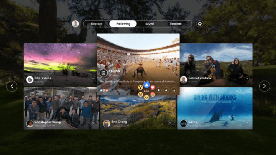 facebook 360 grid vr 720x405 - Facebook 360 chega para Samsung Gear VR e garante experiência 360° completa