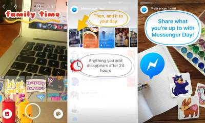 "Cópia do Snapchat, Facebook Stories chamado ""Messenger Day"" é lançado oficialmente"