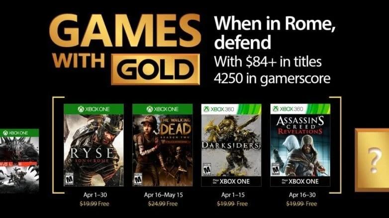 Jogos grátis para assinantes Live Gold em Abril de 2017