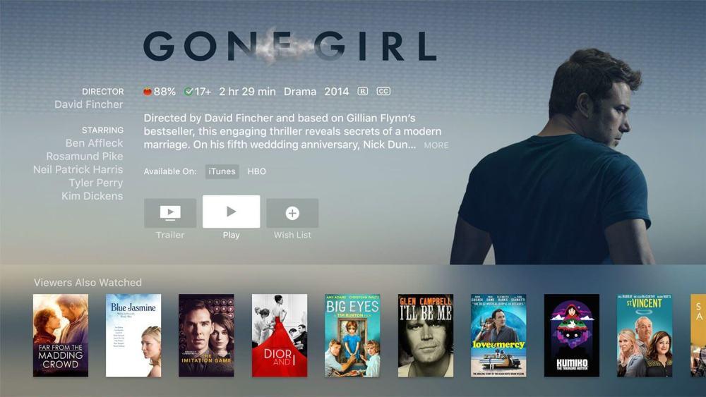 gonegirl - Apple simplifica a sua vida ao alugar um filme na iTunes Store