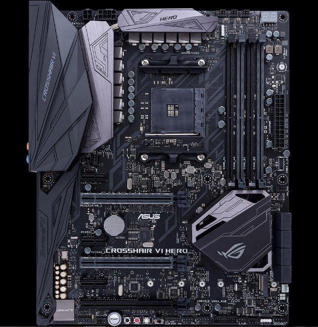 placa mãe ROG Crosshair VI Hero para processadores Ryzen da AMD - ASUS ROG anuncia novas placas-mães AMD AM4 para processadores Ryzen