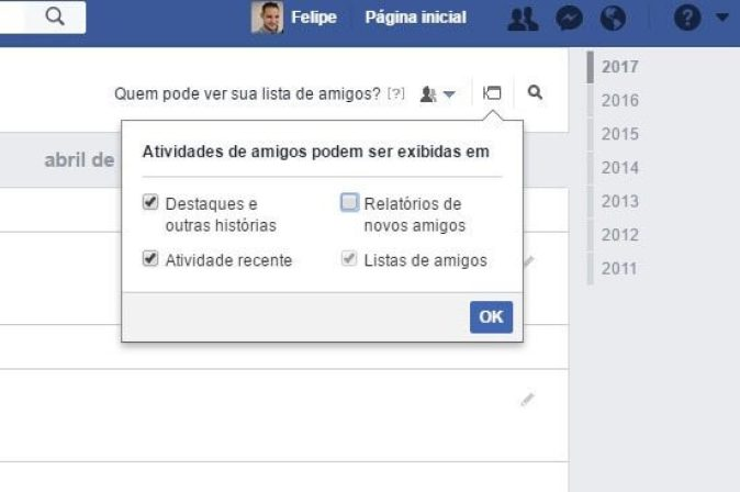 chuchuchu - Tutorial: Como esconder os amigos que adiciono no Facebook