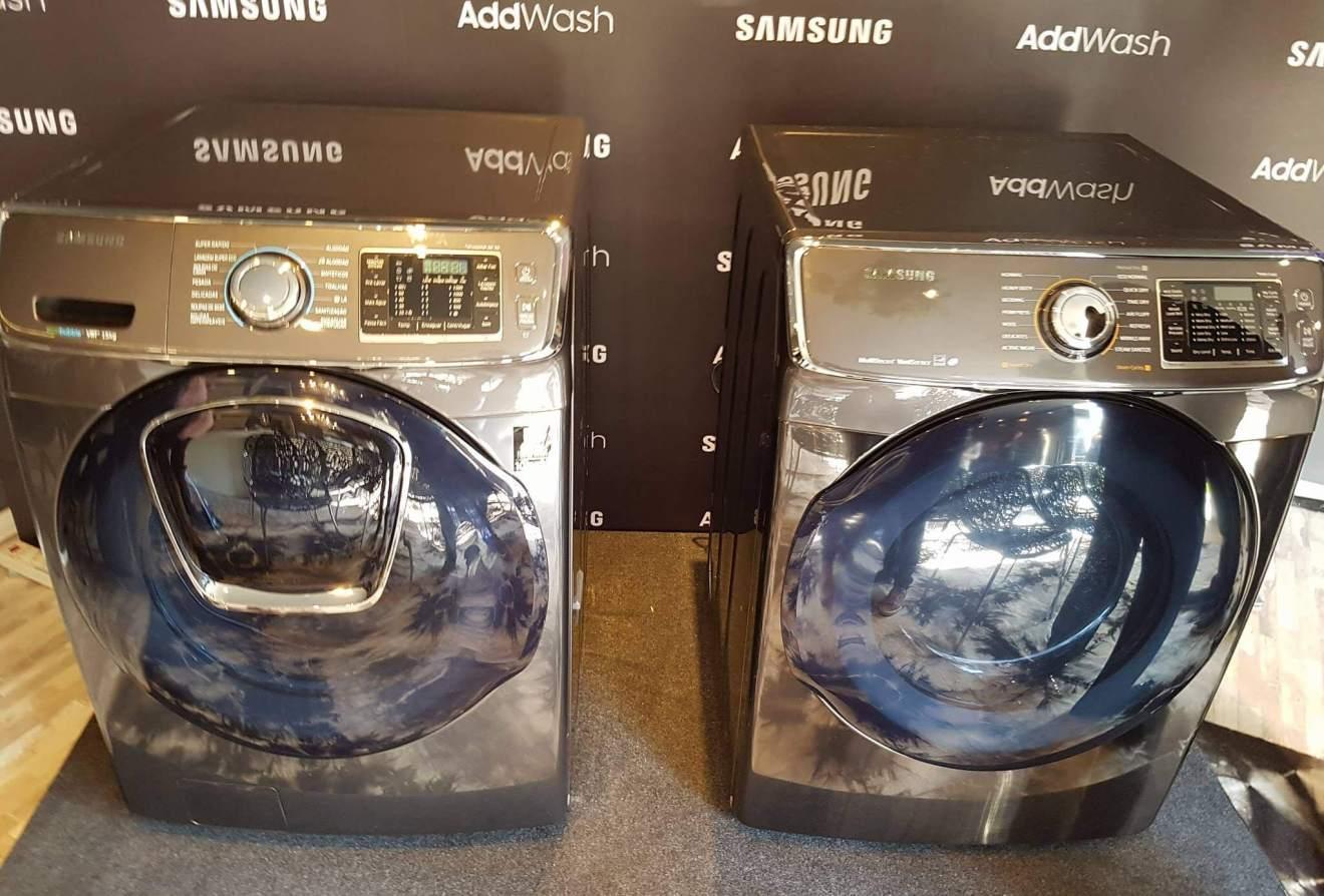 Samsung lança linha branca AddWash inteligente