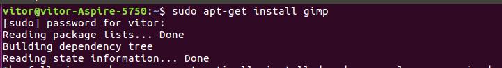 instalando o Gimpa - Tutorial: Como remover e instalar programas no Linux