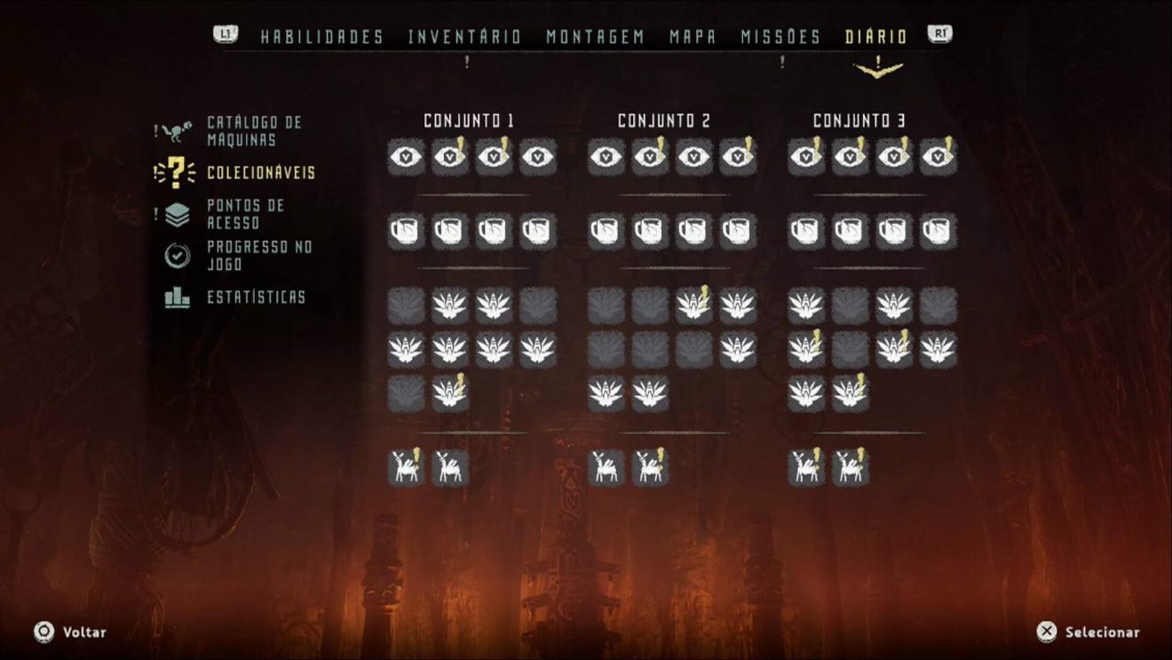 Colecionáveis Horizon Zero Dawn - Game Review: Horizon Zero Dawn (PS4)