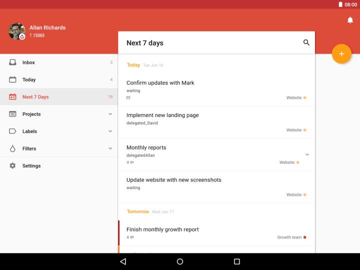 Todoist 720x540 - Os melhores aplicativos para substituir o caderno de anotações