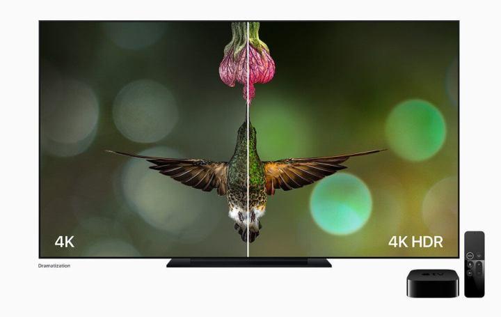 Melhoria de imagem com 4K com HDR