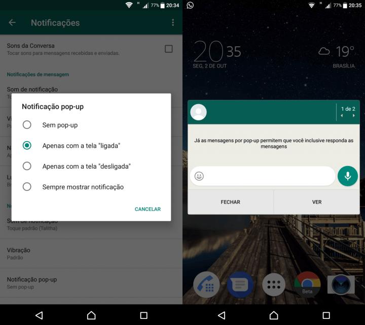 WHATSAPP 5 720x640 - Tutorial: aprenda a ler suas mensagens sem abrir o Whatsapp