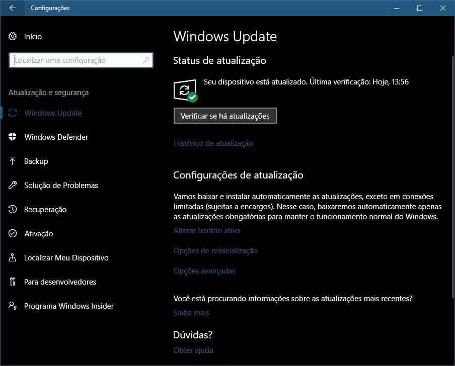 windows 10 atualizar 02 - Windows 10 Fall Creators Update: como atualizar seu PC hoje