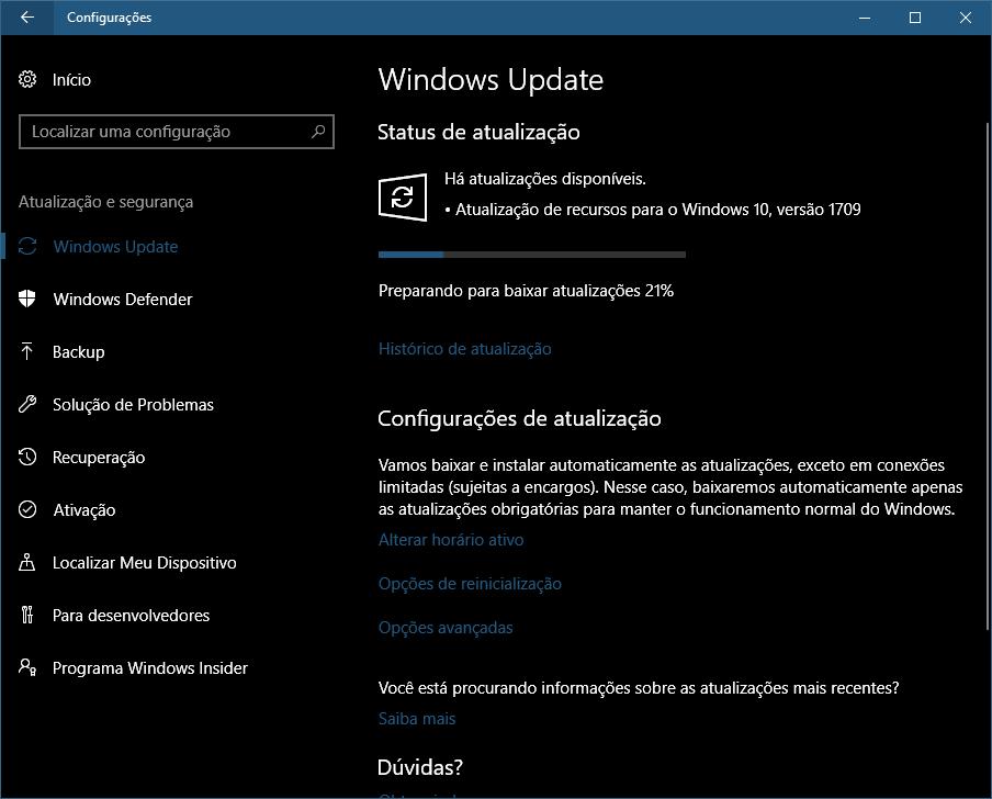 windows 10 atualizar 03 - Windows 10 Fall Creators Update: como atualizar seu PC hoje