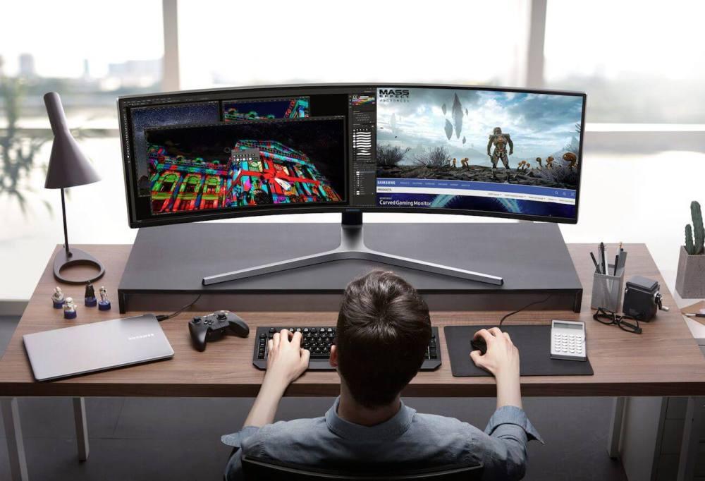 Samsung CHG90 QLED Gaming Monitor 01 - Monitor gamer curvo QLED 32:9 da Samsung é lançado no Brasil