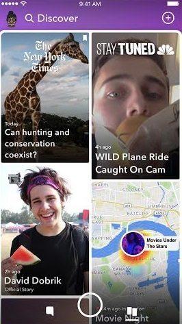 lado direito - Snapchat ganha nova interface! Confira como ficou o app