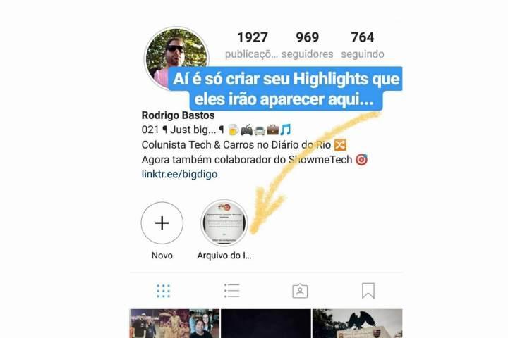 Como utilizar o Arquivo e Highlights do Instagram Stories 6