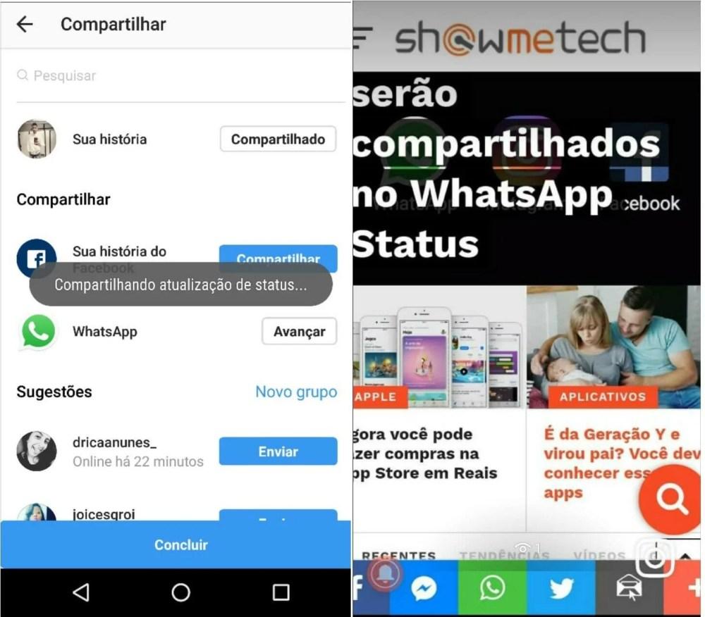 151508645887401 1320x1156 - Como compartilhar a foto no Instagram Stories e WhatsApp Status ao mesmo tempo