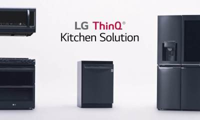 LG ThinQ Kitchen Solution Release - CES 2018: LG apresenta refrigerador ThinQ com tela de 29 polegadas