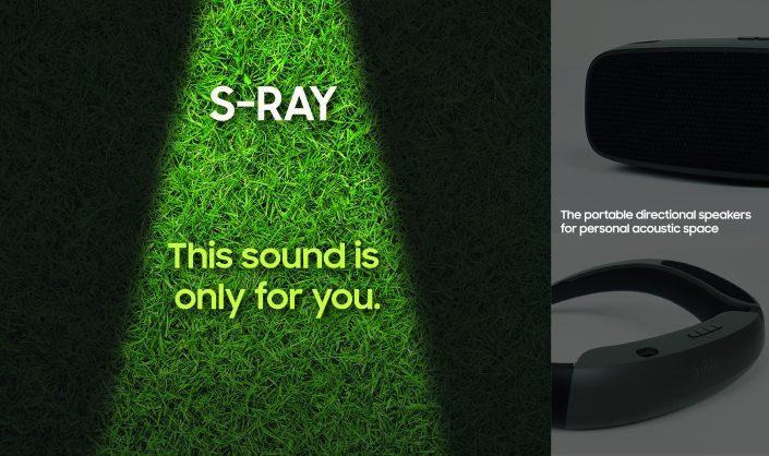 s ray e1514906893284 - S-Ray: o alto-falante da Samsung que apenas você pode ouvir