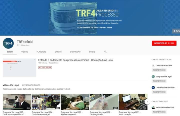 screenshot 20180119 104032 720x464 - Isso é muito Black Mirror! Julgamento do ex-presidente Lula será transmitido pelo YouTube